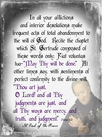 St Paul of the Cross Quote