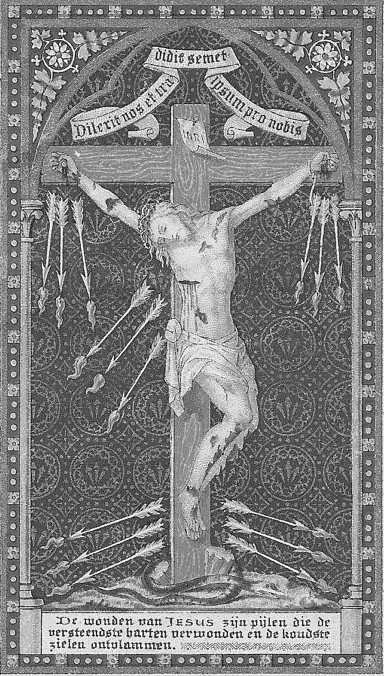 ID B&W Crucifix Holy Card
